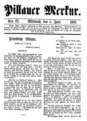 Pillauer Merkur vom 05.06.1889