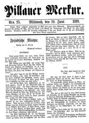 Pillauer Merkur vom 19.06.1889
