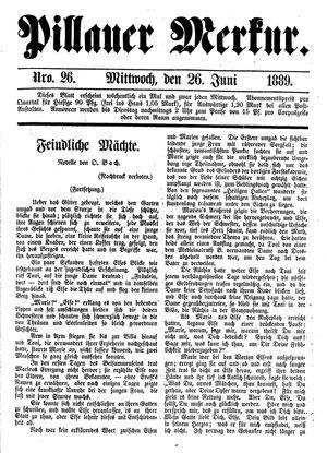 Pillauer Merkur vom 26.06.1889