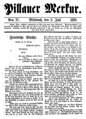Pillauer Merkur vom 03.07.1889