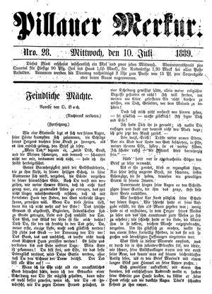Pillauer Merkur vom 10.07.1889