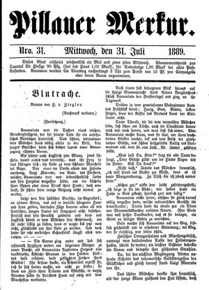 Pillauer Merkur vom 31.07.1889