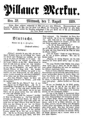 Pillauer Merkur vom 07.08.1889