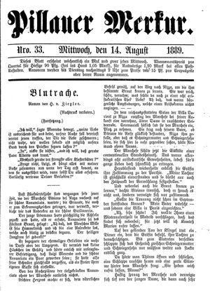 Pillauer Merkur vom 14.08.1889