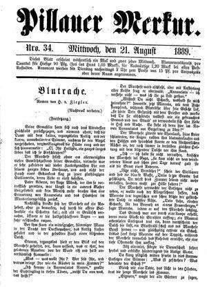 Pillauer Merkur vom 21.08.1889