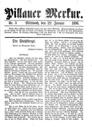 Pillauer Merkur vom 22.01.1890