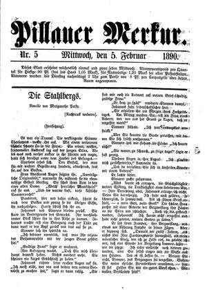Pillauer Merkur vom 05.02.1890