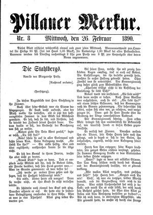 Pillauer Merkur vom 26.02.1890