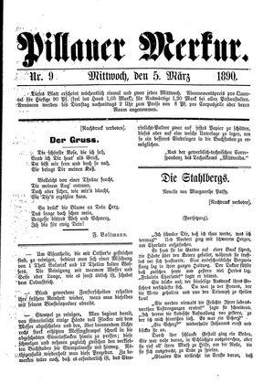 Pillauer Merkur vom 05.03.1890