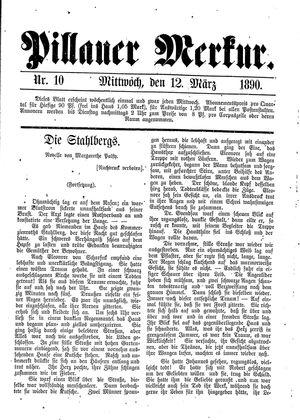 Pillauer Merkur vom 12.03.1890