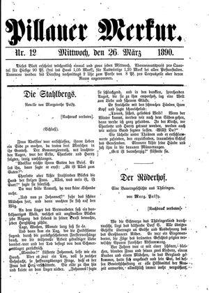 Pillauer Merkur vom 26.03.1890
