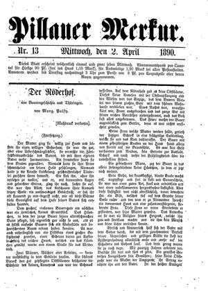 Pillauer Merkur vom 02.04.1890