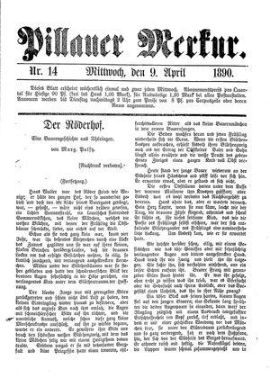 Pillauer Merkur vom 09.04.1890