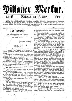 Pillauer Merkur vom 16.04.1890