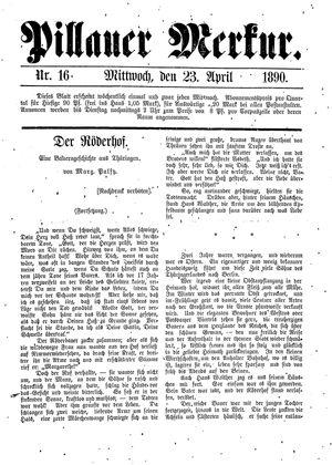 Pillauer Merkur vom 23.04.1890