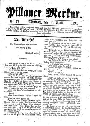 Pillauer Merkur vom 30.04.1890