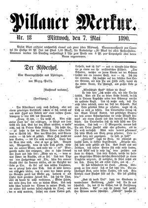 Pillauer Merkur vom 07.05.1890