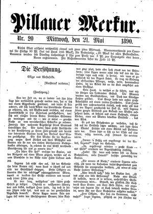 Pillauer Merkur vom 21.05.1890