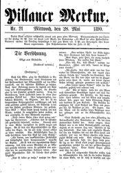 Pillauer Merkur (28.05.1890)