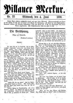 Pillauer Merkur vom 04.06.1890