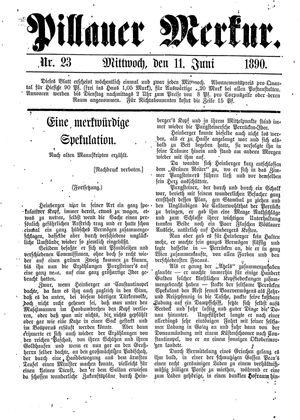 Pillauer Merkur vom 11.06.1890