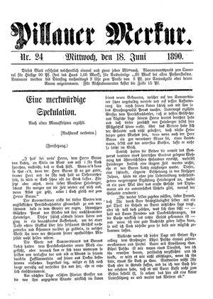 Pillauer Merkur vom 18.06.1890