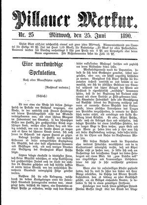 Pillauer Merkur vom 25.06.1890