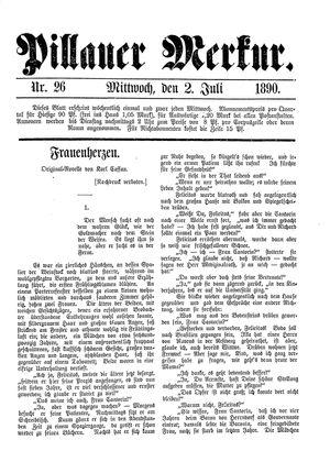 Pillauer Merkur vom 02.07.1890