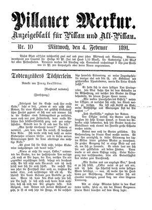 Pillauer Merkur vom 04.02.1891