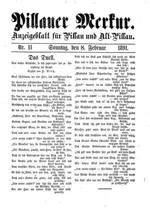 Pillauer Merkur vom 08.02.1891