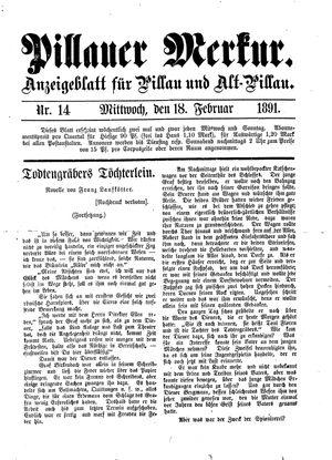 Pillauer Merkur vom 18.02.1891