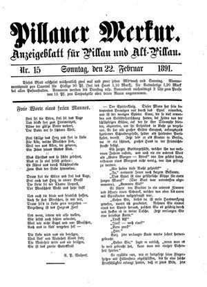 Pillauer Merkur vom 22.02.1891