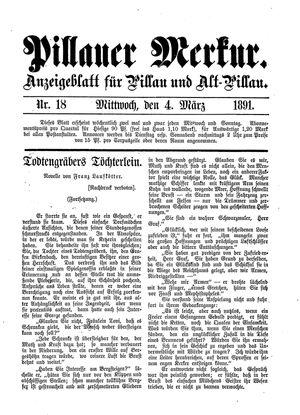 Pillauer Merkur vom 04.03.1891