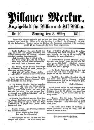 Pillauer Merkur vom 08.03.1891