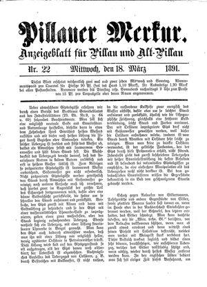 Pillauer Merkur vom 18.03.1891