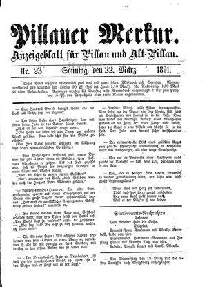 Pillauer Merkur vom 22.03.1891