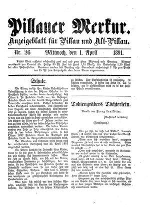 Pillauer Merkur vom 01.04.1891