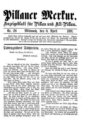 Pillauer Merkur vom 08.04.1891