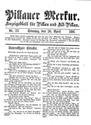 Pillauer Merkur vom 26.04.1891