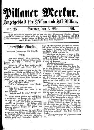 Pillauer Merkur vom 03.05.1891