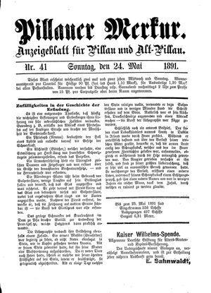 Pillauer Merkur vom 24.05.1891