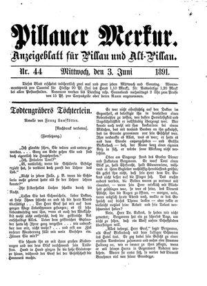 Pillauer Merkur on Jun 3, 1891