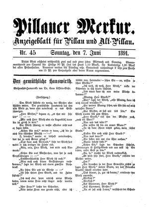 Pillauer Merkur vom 07.06.1891