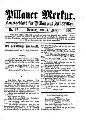 Pillauer Merkur vom 14.06.1891