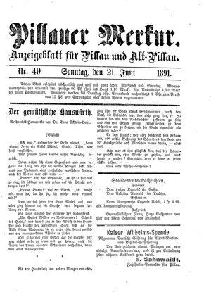 Pillauer Merkur vom 21.06.1891