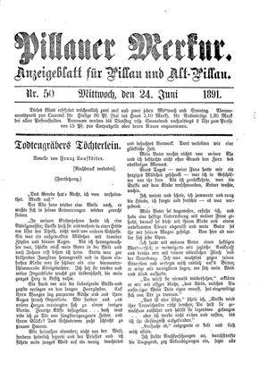 Pillauer Merkur vom 24.06.1891