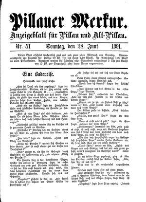 Pillauer Merkur vom 28.06.1891