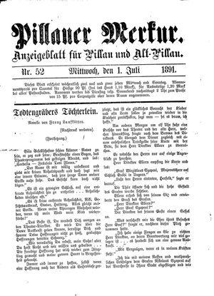 Pillauer Merkur vom 01.07.1891