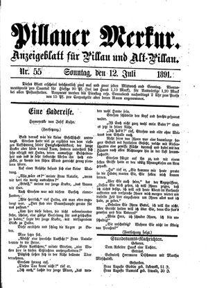 Pillauer Merkur vom 12.07.1891