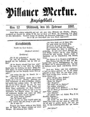 Pillauer Merkur vom 10.02.1892